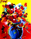Untitled Still Life 36x24 Original Painting by Peter Max - 0