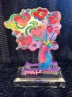 Vase of Flowers - Ver 11 Acrylic Sculpture 2016 Unique 12 in Sculpture by Peter Max - 4