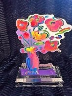 Vase of Flowers - Ver 11 Acrylic Sculpture 2016 Unique 12 in Sculpture by Peter Max - 6