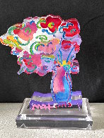 Vase of Flowers - Ver 11 Acrylic Sculpture 2016 Unique 12 in Sculpture by Peter Max - 2