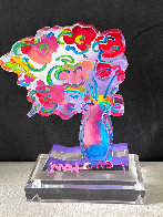 Vase of Flowers - Ver 11 Acrylic Sculpture 2016 Unique 12 in Sculpture by Peter Max - 3