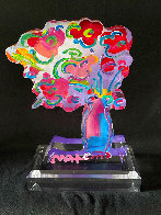 Vase of Flowers - Ver 11 Acrylic Sculpture 2016 Unique 12 in Sculpture by Peter Max - 1