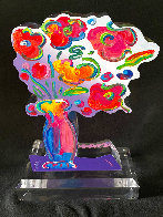 Vase of Flowers - Ver 11 Acrylic Sculpture 2016 Unique 12 in Sculpture by Peter Max - 5