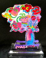 Vase of Flowers - Ver 11 Acrylic Sculpture 2016 Unique 12 in Sculpture by Peter Max - 0