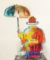 Umbrella Man Ver. III Acrylic Sculpture Unique 2014 12 in Sculpture by Peter Max - 0