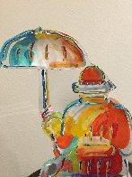 Umbrella Man Ver. III Acrylic Sculpture Unique 2014 12 in Sculpture by Peter Max - 3