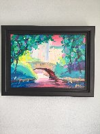 Central Park I  2014 18x24 Original Painting by Peter Max - 1