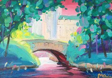 Central Park I  Unique 2014 18x24 Original Painting by Peter Max