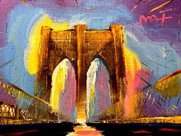 Brooklyn Bridge I Version I #165 2016 27x34 Original Painting by Peter Max