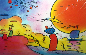 Two Sages In Sun 2003 Limited Edition Print by Peter Max
