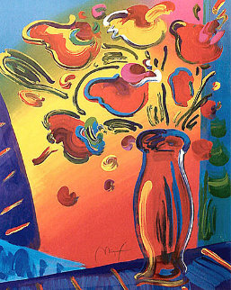 Vase of Flowers 2002 Limited Edition Print - Peter Max