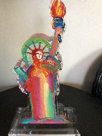 Statue of Liberty Ver III    Acrylic Sculpture Unique 2016 15 in Sculpture by Peter Max - 2