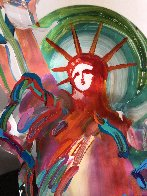 Statue of Liberty Ver III    Acrylic Sculpture Unique 2016 15 in Sculpture by Peter Max - 4