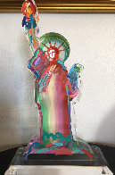 Statue of Liberty Ver III    Acrylic Sculpture Unique 2016 15 in Sculpture by Peter Max - 6