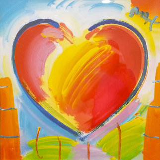 Heart Series II Ver. I Unique 2017 36x36 Original Painting - Peter Max