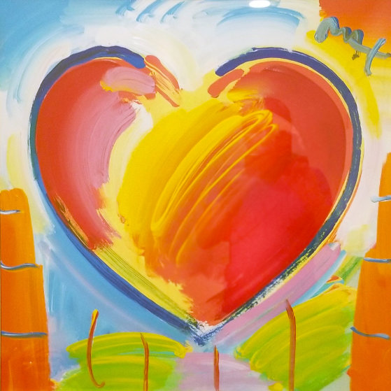 Heart Series II Ver. I Unique 2017 36x36 by Peter Max