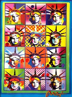 Liberty and Justice For All II 2005 40x34 Huge Limited Edition Print - Peter Max