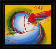 Love the World Unique 1999 27x41 Original Painting by Peter Max - 1