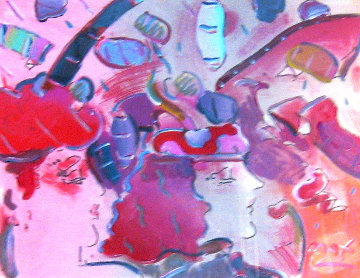 Reflections II 1993 29x36 Works on Paper (not prints) by Peter Max