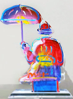Umbrella Man, Ver. III, Acrylic Sculpture 2017 12 in Sculpture by Peter Max