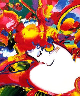 Flower Blossom Lady 1997 Limited Edition Print by Peter Max