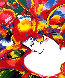 Flower Blossom Lady 1997 Limited Edition Print by Peter Max - 0