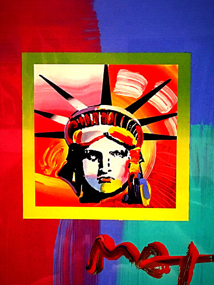 Liberty Head II on Blends: Americana Suite  Unique 2006 by Peter Max