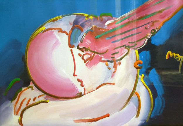 Peace 2000:  I Love the World Unique 24x36 by Peter Max
