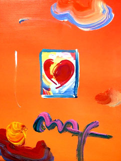 Heart Series Ver. I #119 2008 24x22 Works on Paper (not prints) by Peter Max