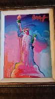 Statue of Liberty Ver IX  Unique 2016 14x12  Original Painting by Peter Max - 2