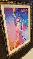 Statue of Liberty Ver IX  Unique 2016 14x12  Original Painting by Peter Max - 4