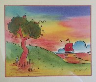 Quiet Lake III 2000 Limited Edition Print by Peter Max - 2