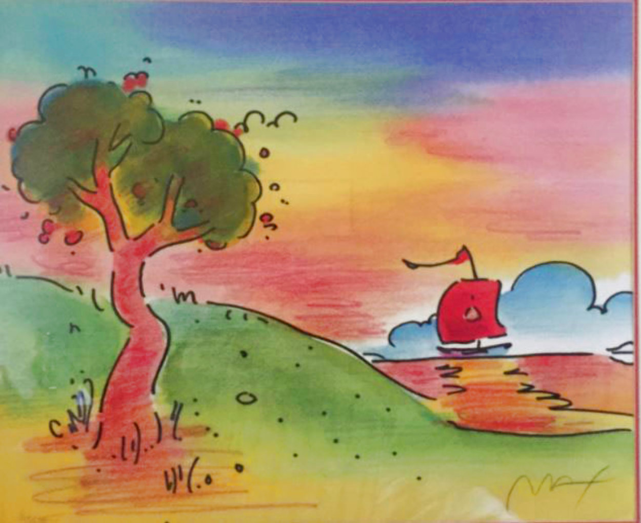 Quiet Lake III  Limited Edition Print by Peter Max