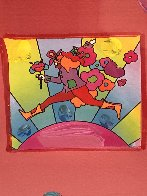 Flower Jumper Unique 2006 33x28 Works on Paper (not prints) by Peter Max - 1