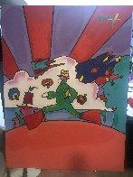 Cosmic Runner 2008 48x36 Super Huge Original Painting by Peter Max - 1