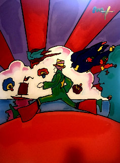 Cosmic Runner 2008 48x36 Original Painting - Peter Max