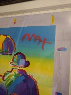 Umbrella Man 2015 Unique 35x35 Works on Paper (not prints) by Peter Max - 4
