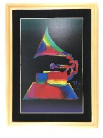 Grammy 1989 46x36 Super Huge Oil on Canvas Original Painting by Peter Max - 2