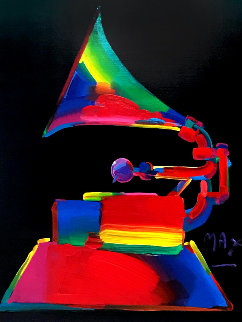 Grammy 1989 46x36 Huge Acrylic on Canvas Original Painting - Peter Max