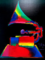 Grammy 1989 46x36 Super Huge Oil on Canvas Original Painting by Peter Max - 1