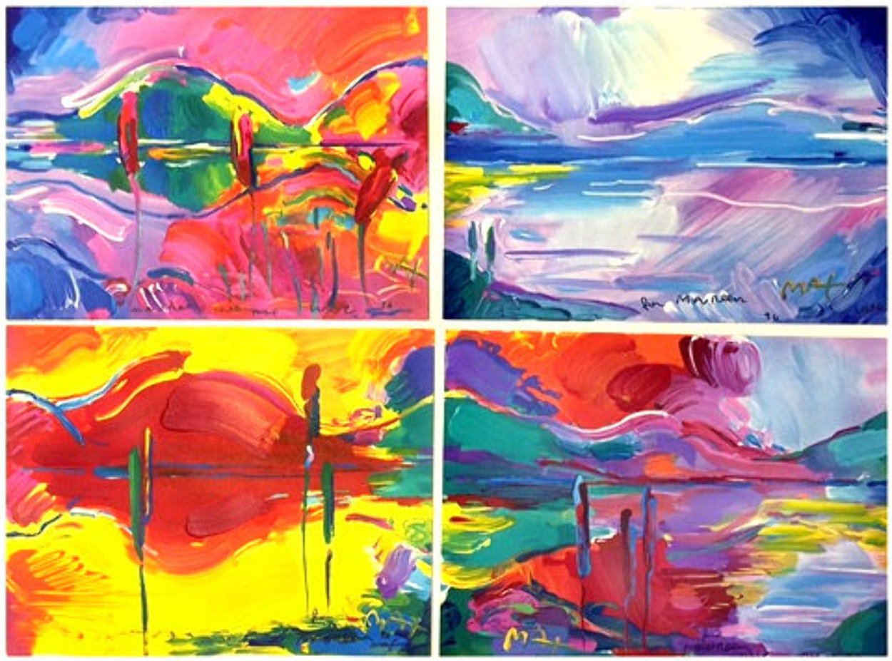 Four Seasons 2002 Suite of 4 Limited Edition Print by Peter Max