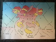 Hearts in a Vase 1982 Limited Edition Print by Peter Max - 1