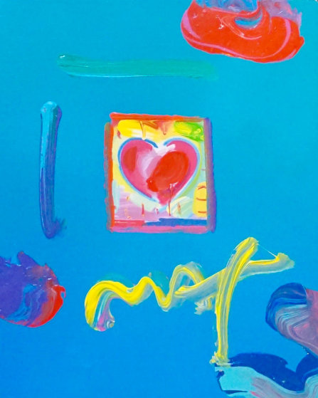 Heart 23x21 Original Painting by Peter Max