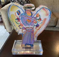 Angel With Heart Acrylic Sculpture  Sculpture by Peter Max - 3