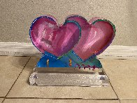 Two Hearts Acrylic Sculpture 2017 12 in Sculpture by Peter Max - 4