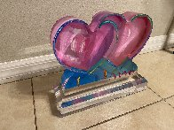 Two Hearts Acrylic Sculpture 2017 12 in Sculpture by Peter Max - 5