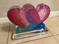 Two Hearts Acrylic Sculpture 2017 12 in Sculpture by Peter Max - 2
