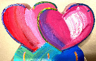 Two Hearts Acrylic Sculpture 2017 12 in Sculpture by Peter Max - 0