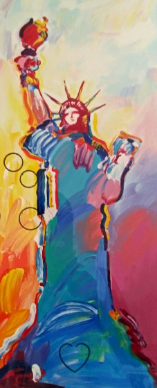 Statue of Liberty (Small) 2010 w/ Remarque Limited Edition Print by Peter Max