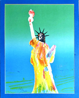 Statue of Liberty 1980 Limited Edition Print - Peter Max